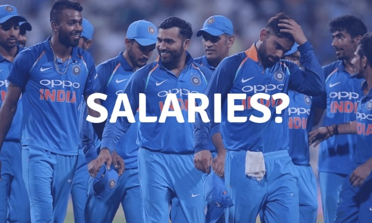 Indian cricketers salaries