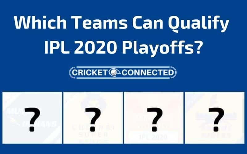 Which Teams Can Qualify IPL 2020 Playoffs