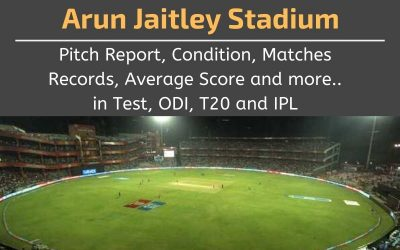 Arun Jaitley Stadium Pitch Report, Conditions, Matches Records, Average Scores (Delhi)