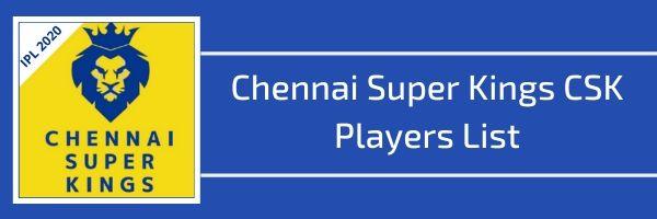 chennai super kings csk players list