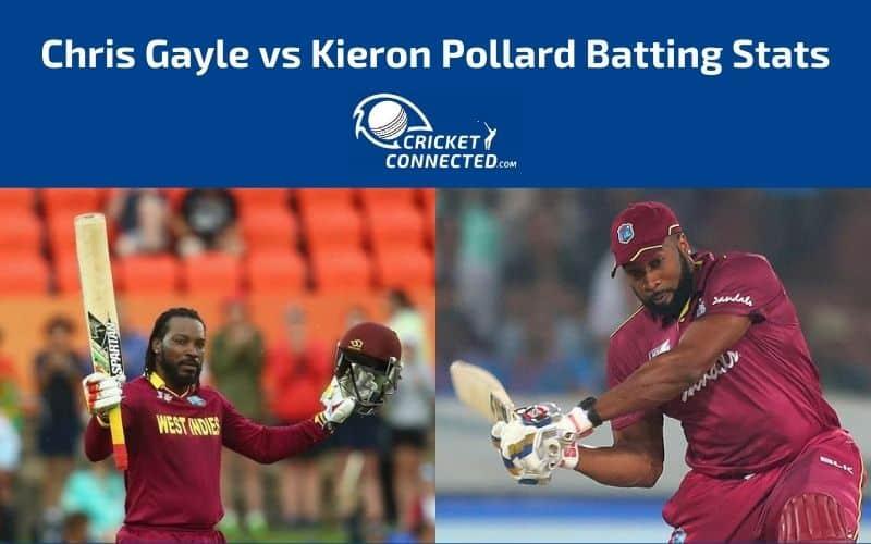 Chris Gayle vs Kieron Pollard Stats