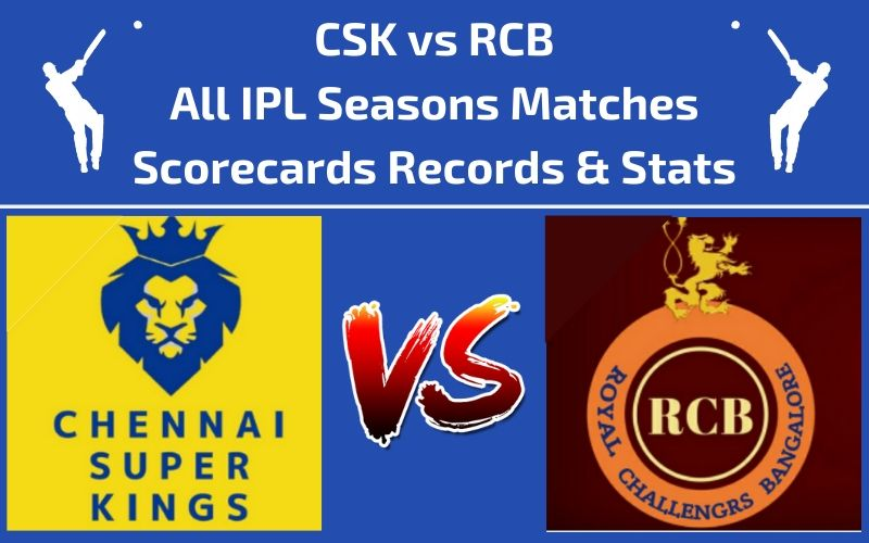 CSK vs RCB Head to Head Scorecards and Records