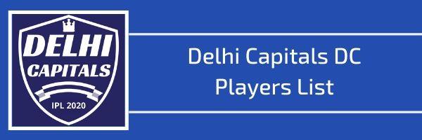 delhi capitals dc players list