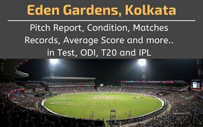 Eden Gardens Pitch Report, Conditions, Matches Records, Average Scores