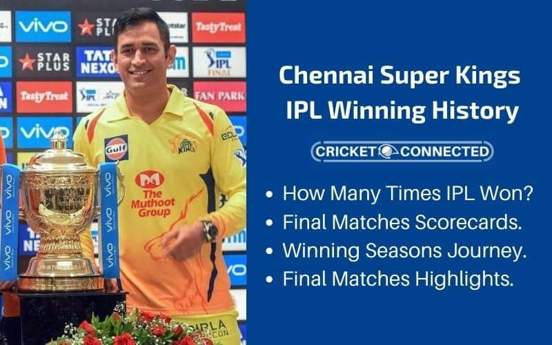 How Many Times CSK Won IPL - Winning History