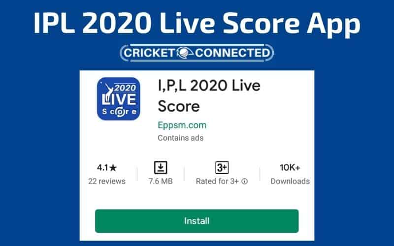 ipl 2020 live score app