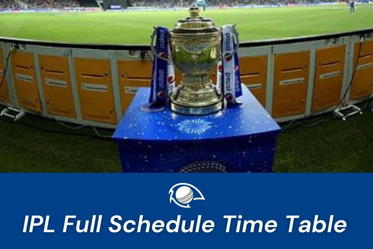 ipl 2021 time table matches schedule