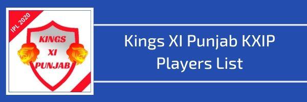 kings xi punjab kxip players list