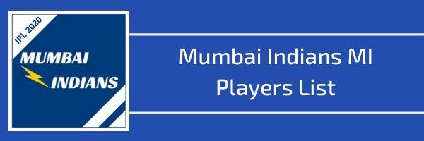 mumbai Indians mi players list