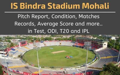 Mohali IS Bindra Stadium Pitch Report, Conditions, Matches Records (Punjab Cricket Association)