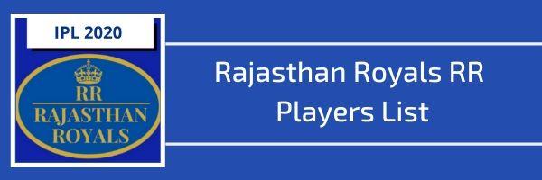 rajasthan royals rr players list