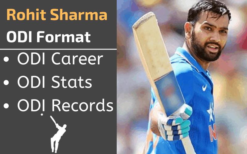 Rohit Sharma ODI Stats Records Rankings and Career