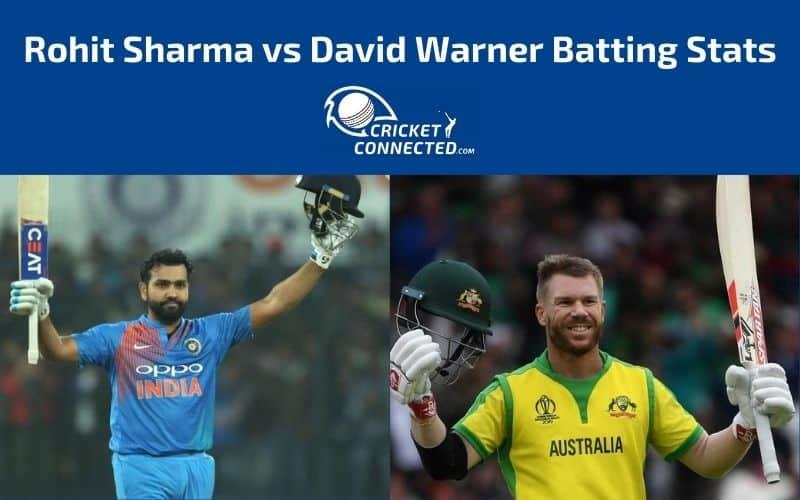 Rohit Sharma vs David Warner Stats
