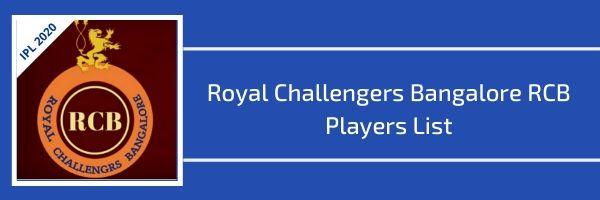 royal challengers bangalore rcb players list