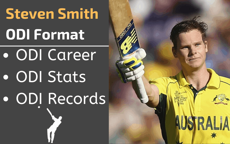 Steven Smith ODI Stats Records Rankings and Career