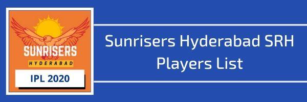 sunrisers hyderabad srh players list
