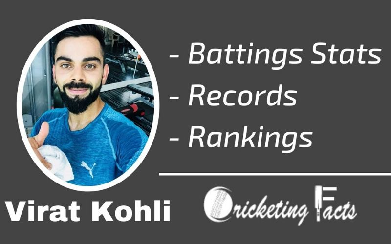 Virat Kohli Stats, Records, Cricket Career in Test, ODI, T20, IPL