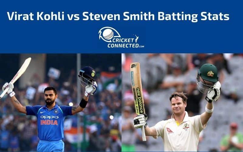 Virat Kohli vs Steven Smith Stats